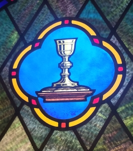 Communion Stained Glass window