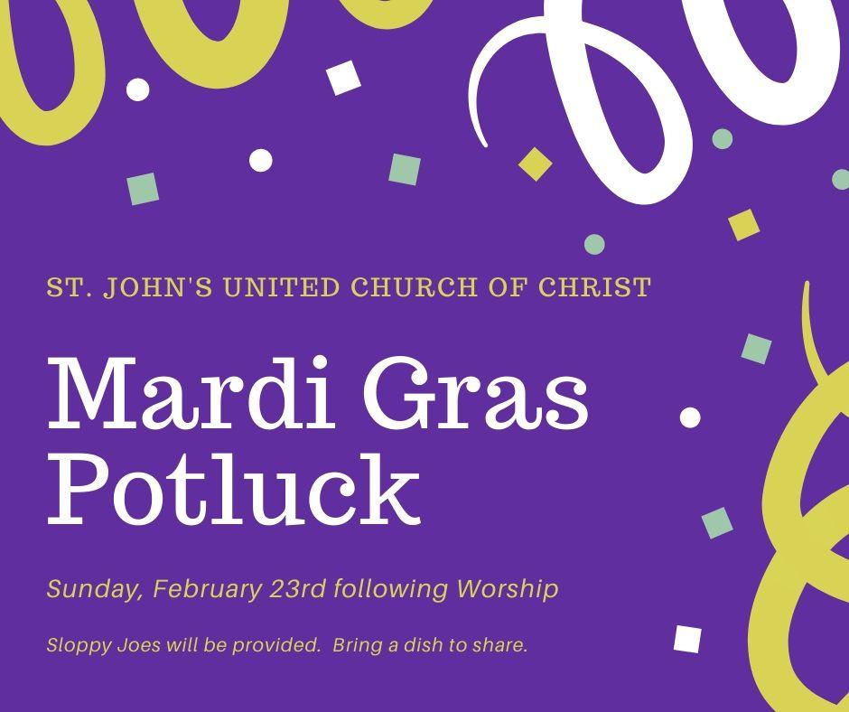 Mardi Gras Potluck